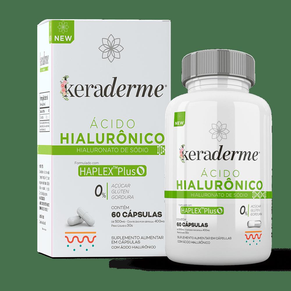 Keraderme Hialurônico - 60 Cápsulas